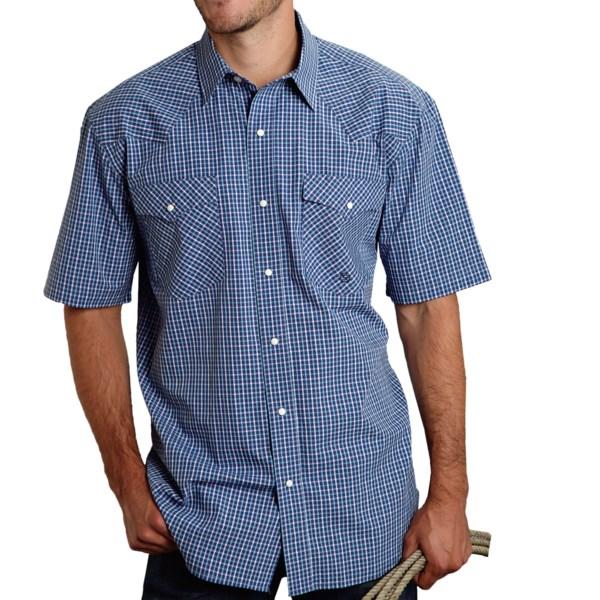 Roper Amarillo Summer Mini-Check Shirt - Short Sleeve (For Men)