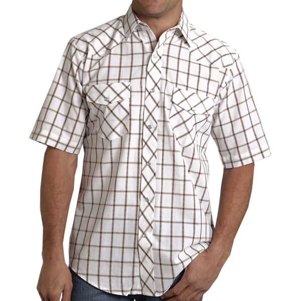 Roper Karman Classic Grid Plaid Shirt - Short Sleeve (for Men)