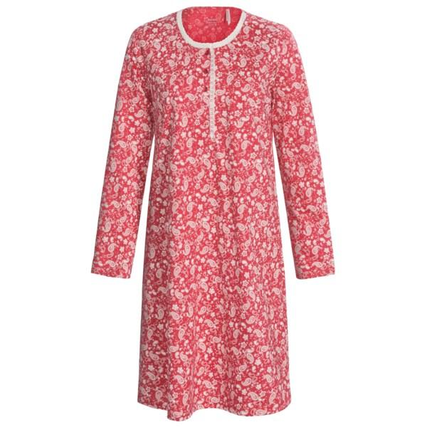 Calida Fresh and Delicate Cotton Big Shirt - Long Sleeve (For Women)