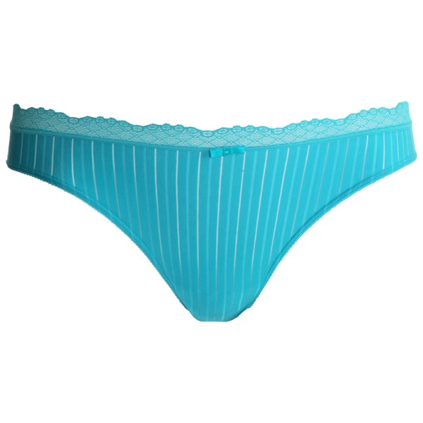 CLOSEOUTS . Silky-soft cotton and lace-trimmed detail, Calidaand#39;s Aura panties combine comfort and elegance effortlessly. Available Colors: GERBERA, CARIBBEAN BLUE. Sizes: 2XS, XS, S, M.