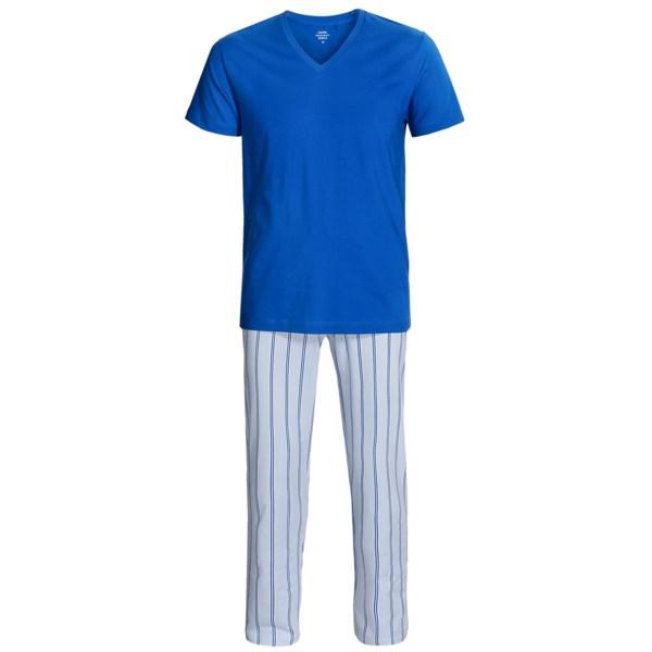 Calida Remix 2 Pajamas - Cotton, V-Neck, Short Sleeve (For Men)