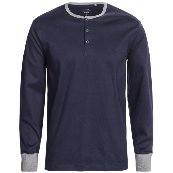 CLOSEOUTS . A lasting investment in comfort and season after season of wear, Calidaand#39;s Remix 2 henley shirt is knit from pure Swiss cotton in a strong interlock stitch. Available Colors: DARK BLUE, SILVER CLOUD HEATHER. Sizes: S, M, L, XL.