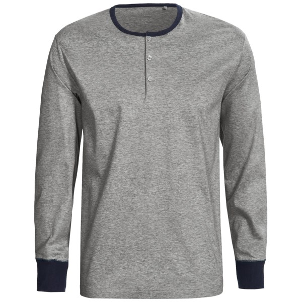 Calida Remix 2 Henley Shirt - Cotton, Long Sleeve (for Men)