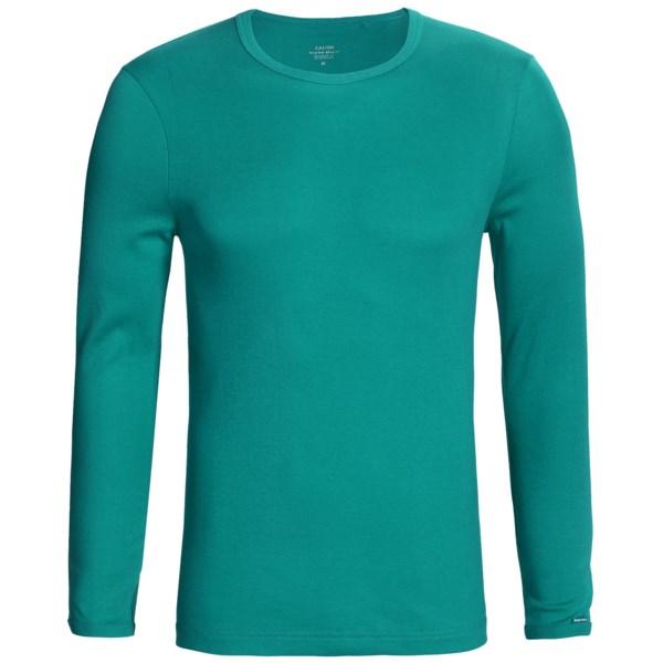 Calida Remix 1 Shirt - Cotton, Crew Neck, Long Sleeve (For Men)