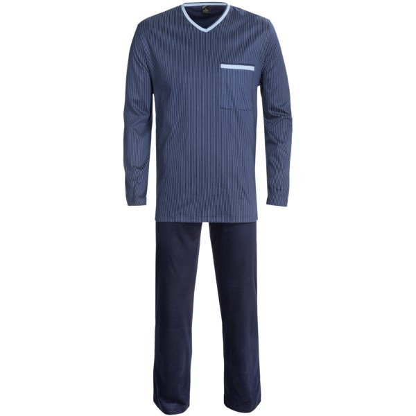 Calida Moon Shadow Pajamas - Supima(R) Cotton, Long Sleeve (For Men)