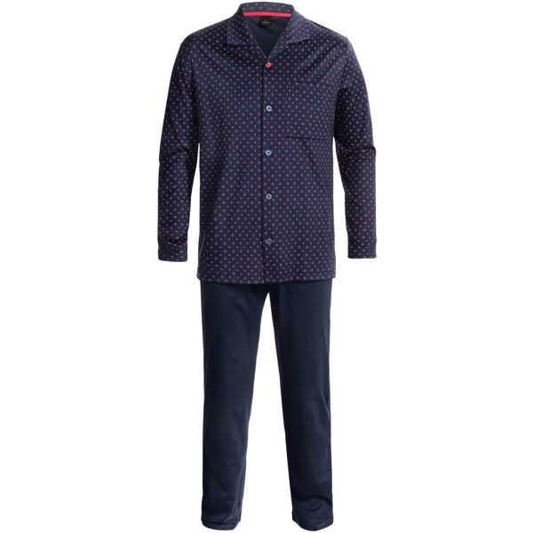 Calida Midnight Trip Pajamas - Cotton, Long Sleeve (For Men)