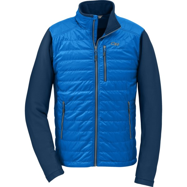 CLOSEOUTS . A layering piece with 60g PrimaLoft ECOand#174; core insulation and stretchy fleece sleeves, Outdoor Researchand#39;s Acetylene jacket can handle cool-weather hikes or high-intensity winter activities. Available Colors: GLACIER/ABYSS, BLACK. Sizes: S, M, L, XL.