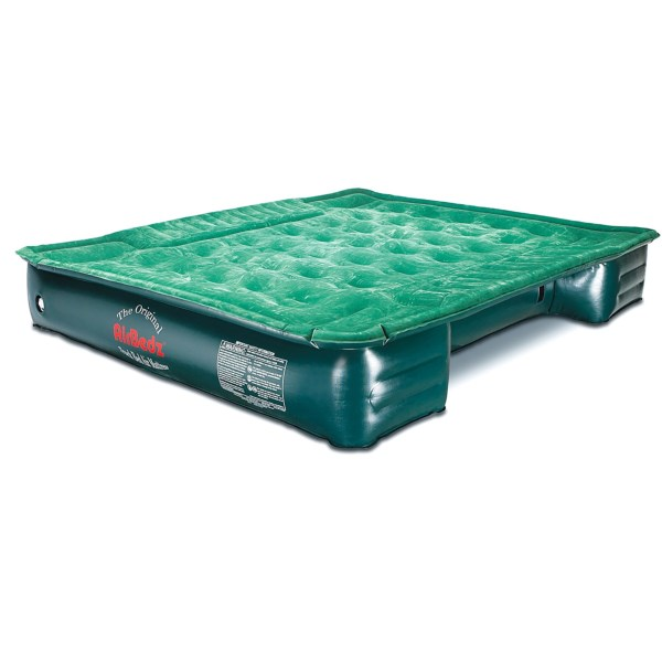 CLOSEOUTS . AirBedz Lite truck bed air mattress is the perfect solution for tent-less camping and hunting trips. Designed with wheel well cutouts, this durable air mattress covers the entirety of your truck bed. Available Colors: SEE PHOTO.