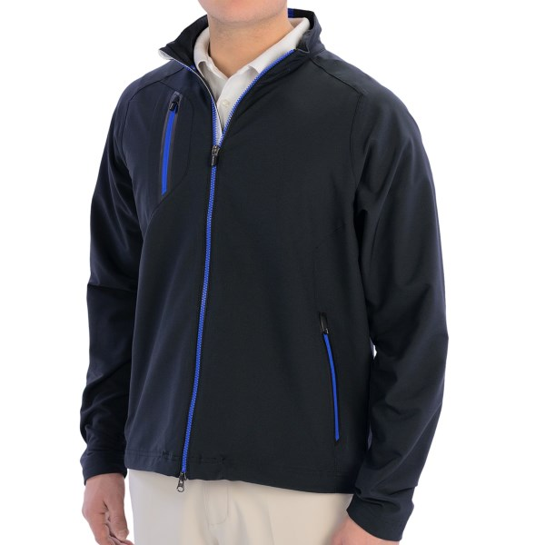 CLOSEOUTS . Zero Restrictionand#39;s Z550 jacket offers lightweight soft shell protection that wicks moisture, cuts wind, and features four-way stretch for the brand-name promise of zero restriction. Available Colors: BLACK. Sizes: S, M, L, XL, 2XL.