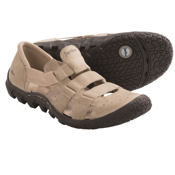 CLOSEOUTS . Jambuand#39;s Cobra sandals are your worthy companions from late-night beach strolling to all-day active antics, thanks to 360-degree Air Vent design, perforated footbed and strappy, summery coverage. Available Colors: BLACK, BROWN, KHAKI. Sizes: 8, 8.5, 9, 9.5, 10, 10.5, 11, 11.5, 12, 13.