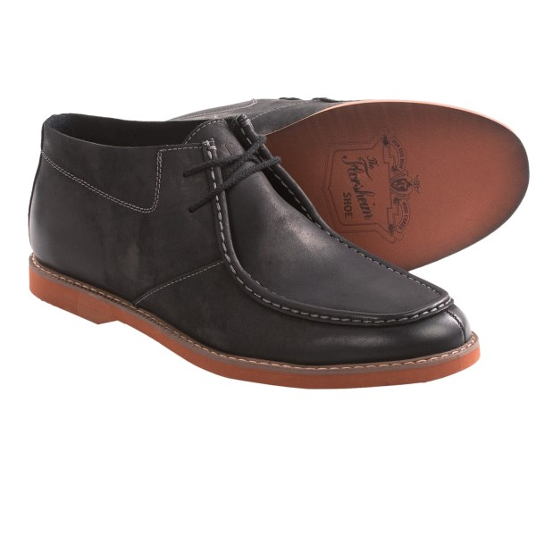 CLOSEOUTS . The HiFi moniker affirms the vintage inspiration of Florsheimand#39;s HiFi boot -- a super-comfortable moc toe reminiscent of the classic chukka, with russet-hued EVA outsole dialing in the cushion and support. Available Colors: BLACK CRAZY HORSE, MUSHROOM, BROWN CRAZY HORSE, NAVY. Sizes: 8.5, 9, 9.5, 10, 10.5, 11, 11.5, 12, 13, 14.