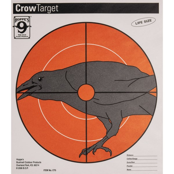 CLOSEOUTS . Improve your shot with a little help from Hoppeand#39;s Crow targets. The 20-pack of paper targets allows for repeated practice. Available Colors: SEE PHOTO.