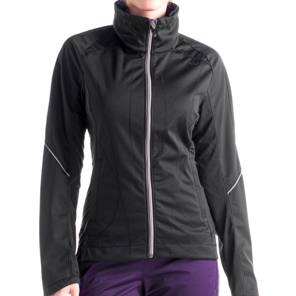 CLOSEOUTS . Going for a run or always on the run, Loleand#39;s Daylight soft shell jacket is perfectly stretchy, seriously versatile and offers excellent protection from the elements. Available Colors: BLACK, BLACKBERRY, BEAUJOLAIS. Sizes: XS, S, M, L, XL.