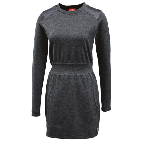 CLOSEOUTS . Youand#39;ve never seen a LBD like this baby. Merrelland#39;s Indira Mixer dress features a stretchy-soft knit, pieced-in waist and military-inspired overlay panels at the shoulders, elbows and pockets for a truly fashionable look you canand#39;t resist. Available Colors: BLACK, BASALT HEATHER, GRAPE LEAF HEATHER. Sizes: XS, S, M, L, XL.