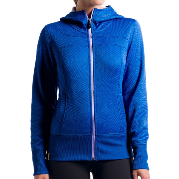 CLOSEOUTS . Soft brushed fleece and cool embroidered detail, Loleand#39;s Unite cardigan hoodie combines warm construction and performance features effortlessly. Featuring a textured, quick-drying and moisture-wicking fabric, this hoodie keeps you comfortable, and the rib-knit cuffs and hem make for a snug and adorable fit. Available Colors: PERSIAN BLUE, BLACK, RED SEA. Sizes: XS, S, M, L, XL.
