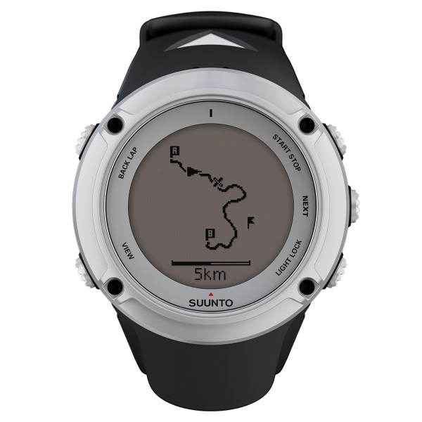 CLOSEOUTS . The Suunto Ambit2 Silver sport watch is the ultimate tool for accessing and tracking data on the move with an integrated GPS, waypoint and route navigation feature, total ascent and descent tracking, altimeter, barometer and access to more than 1000 free Suunto apps for outdoors and training. Available Colors: SILVER.