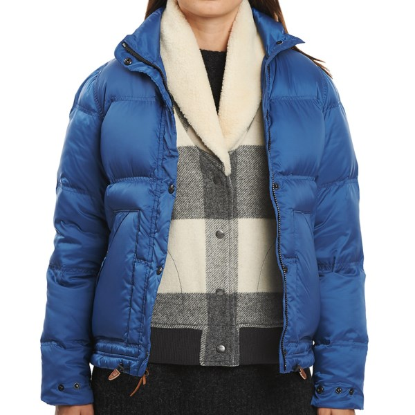 CLOSEOUTS . A puffy, toasty favorite for timeless winter style and endless winter warmth, the Woolrich Sierra down coat boasts a silky quilted ripstop shell with insulating 550 fill power down. Big, angled hand pockets and a protective insulated mock collar put a fresh spin on this cozy classic. Available Colors: BLACK, CARDINAL, DARK COBALT. Sizes: XS, S, M, L, XL, 2XL, 3XL, 4XL.