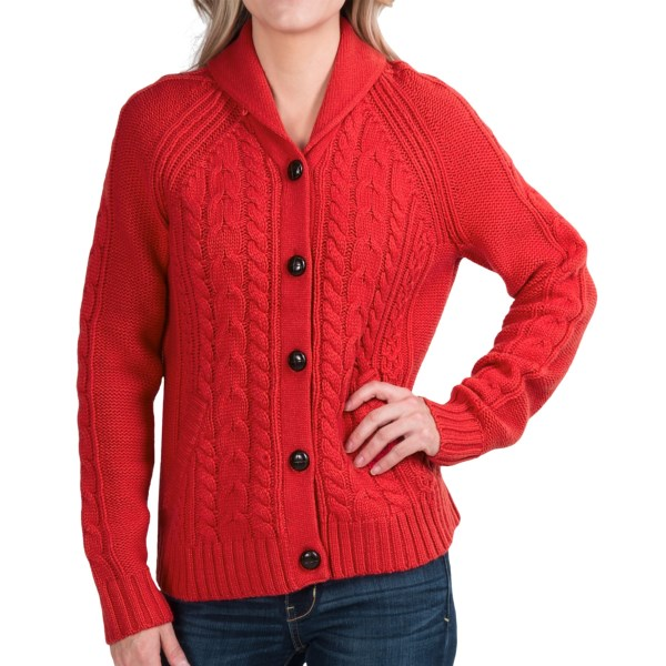 Woolrich Hannah Cable Cardigan Sweater - Wool Blend (For Women)