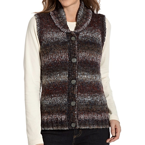 CLOSEOUTS . Cozy right on in to Woolrichand#39;s Kendal Creek vest, a colorfully space-dyed knit accented by a beautiful Fair Isle knit design on the back yoke. Available Colors: SHALE, SLATE. Sizes: XS, S, M, L, XL, 2XL, 3XL, 4XL.
