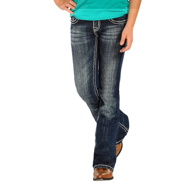 Rock and Roll Cowgirl Aztec Embroidered Jeans - Bootcut (For Girls)