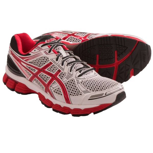 CLOSEOUTS . Built with extra cushioning, Asics GT-3000 running shoes deliver a smooth and stable ride to overpronators thanks to Dynamic DuoMax support and Rearfoot and Forefoot GELand#174; cushioning. Available Colors: WHITE/RED/BLACK. Sizes: 9.5, 10, 10.5, 11, 11.5, 12, 14.