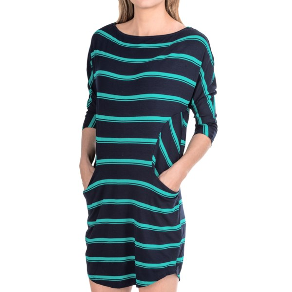Michael Stars Boat Neck Dress - Rayon, Short Dolman Sleeve (For Women)