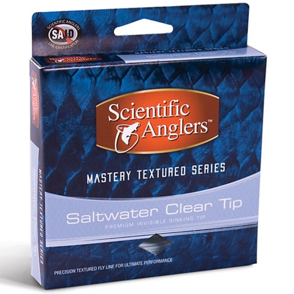 CLOSEOUTS . Featuring textured technology for improved casting and low memory, Scientific Anglersand#39; Mastery Texture Series saltwater fly line is a great choice for all saltwater applications and tropical conditions. Available Colors: LIGHT BLUE, HORIZON/CLEAR.