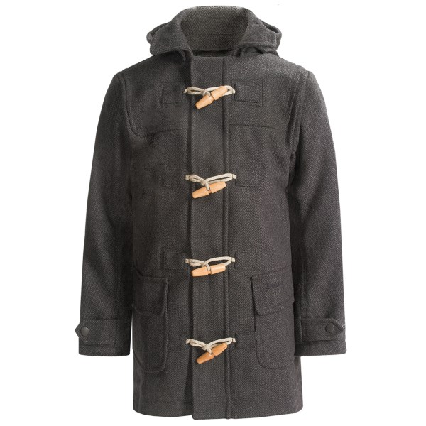 Barbour Expectation Classic Hooded Duffle Coat - Wool Blend (For Girls)