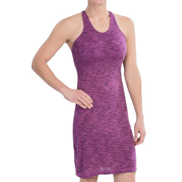 CLOSEOUTS . Performance comes in many shapes and sizes, but rarely do you see it in something this cute, sassy and stylish. Outdoor Research?s Flyaway tank dress combines a light, wicking and fast-drying fabric with a shapely fit and adorably unique back. The supportive, built-in shelf bra comes in for the perfect finish. Available Colors: ORCHID/CROCUS. Sizes: 2, 4, 6, 8, 10, 12, 14, 16.