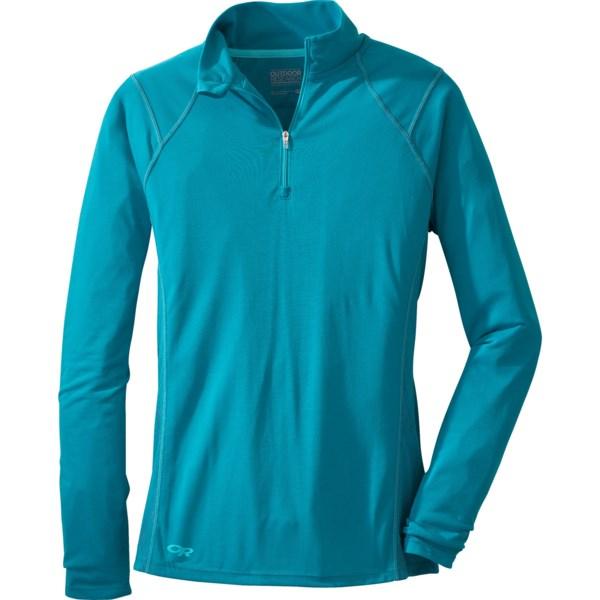 Outdoor Research Essence Shirt - Zip Neck, Long Sleeve (For Women)