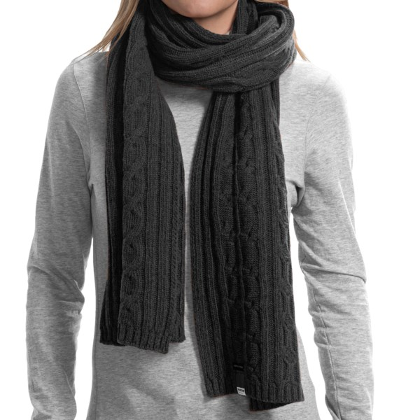 Barbour Pantone Cable-knit Scarf - Lambswool (for Men And Women)