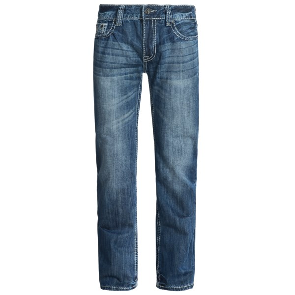 Rock and Roll Cowboy Pistol Double V Jeans - Slim Fit, Bootcut (For Men)