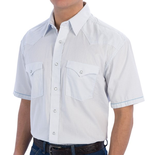 Rough Stock by Panhandle Slim Cedar Island Shirt - Snap Front, Short Sleeve (For Men)