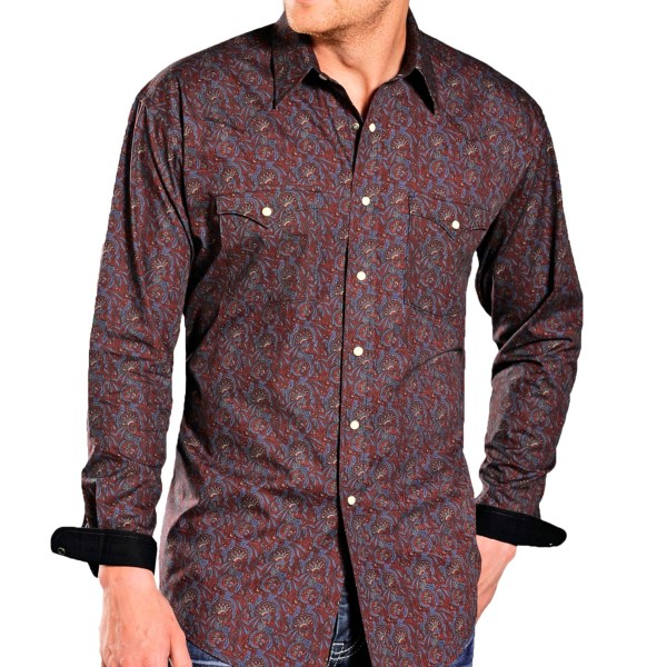 Rough Stock by Panhandle Slim Montreux Vintage Print Shirt - Snap Front, Long Sleeve (For Men)