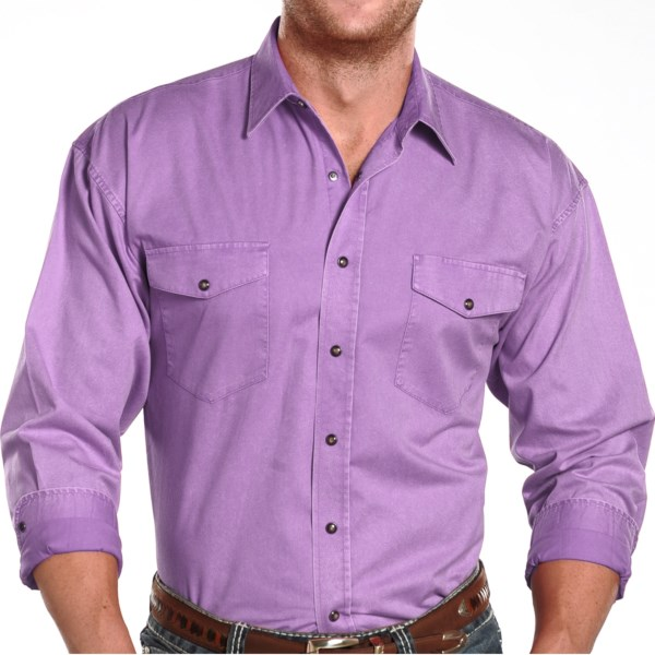 Panhandle Slim Stonewashed Shirt - Snap Front, Long Sleeve (for Men)