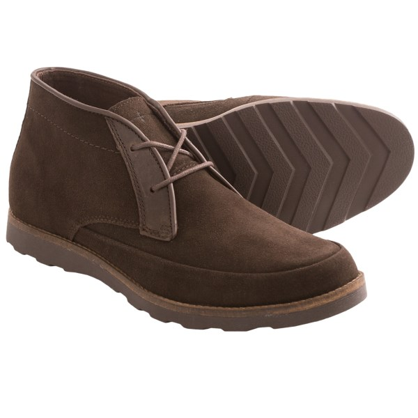 CLOSEOUTS . Brushed suede and a retro chukka style bring a touch of swagger to Skechers? Mark Nason Leyton chukka boots; all you have to do is lace them up and reap the comfortable, handsome benefits. Available Colors: CHARCOAL, CHOCOLATE. Sizes: 7, 7.5, 8, 8.5, 9, 9.5, 10, 10.5, 11, 11.5, 12, 13, 14.