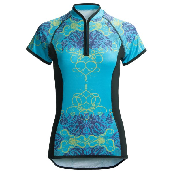... UPC 790740045255 product image for Shebeest Divine Flourish Cycling  Jersey - Short Sleeve (For Women ... 0c78ef5d7