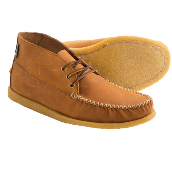 CLOSEOUTS . Give your casual wardrobe a little pop with Eastlandand#39;s Oneida 1955 chukka boots. These premium leather chukkas feature supple leather and a shock-absorbing plantation crepe outsole. Available Colors: BROWN, PEANUT. Sizes: 7, 7.5, 8.5, 9.5, 10, 10.5, 11, 11.5, 12, 13.
