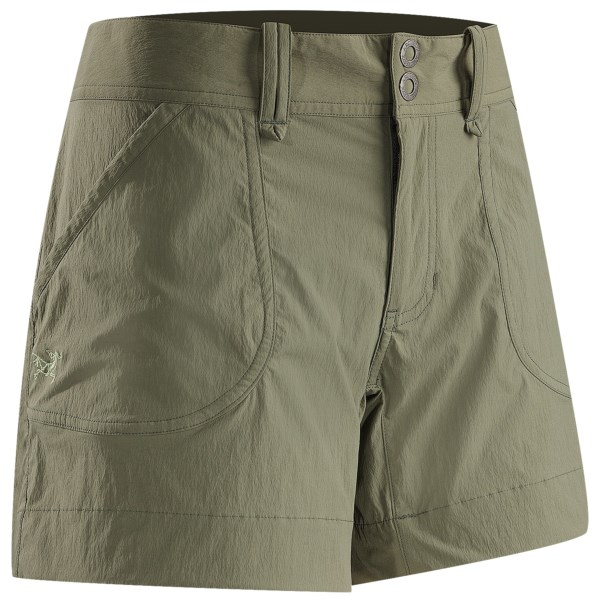 CLOSEOUTS . We know you live for getting on the trail and out into nature, and Arcand#39;teryx Parapet shorts share the same sentiment. Lightweight, durable, quick-drying and moisture-wicking fabric keeps you comfortable, and the full-inseam gusset makes sure you get unrestricted full-range of motion -- are you gearing-up yet? Available Colors: CARGO GREEN, CHALK STONE, NUBIAN BROWN. Sizes: 10, 12, 2, 4, 6, 8, 14.