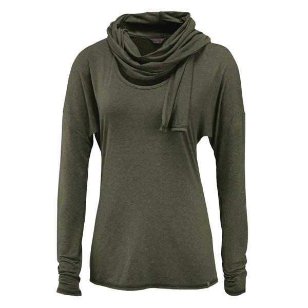 Merrell Evoke Jersey T-Shirt - Built-In Scarf, Long Sleeve (For Women)