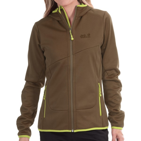 CLOSEOUTS . Donand#39;t let a chilly breeze deter you from your weekend trek! Jack Wolfskinand#39;s Glacier Valley soft shell jacket is ready to take on your outdoor adventures with the stretchy, performance-driven power of StormLock soft shell technology. The windproof, water-resistant exterior is paired with soft, insulating fleece interior for long-lasting, bulk-free warmth. Available Colors: INDIAN RED, TEAL GREEN, SILTSTONE. Sizes: XS, S, M, L, XL, 2XL, 3XL.