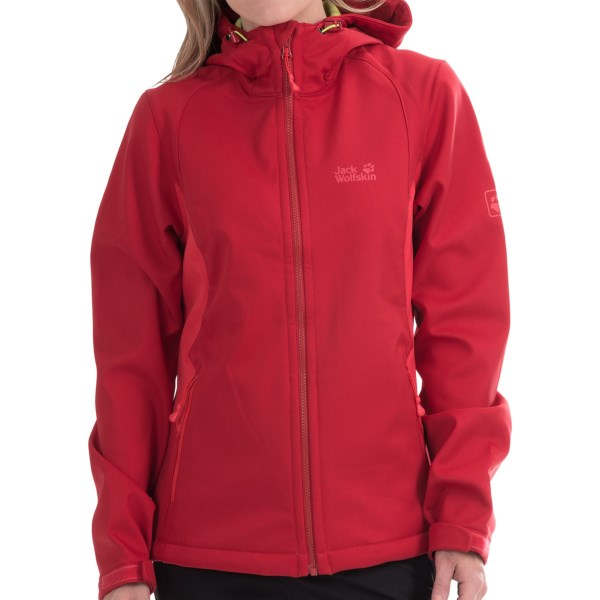 CLOSEOUTS . Jack Wolfskinand#39;s Timberline jacket is a versatile, low-profile layer thatand#39;s built to help you seek the next summit. The windproof Storm Lock Hyproof soft shell resists water and breathes so you wonand#39;t overheat on the trail, and the attached hood provides additional coverage in inclement weather. Available Colors: BLUEBERRY, INDIAN RED. Sizes: XS, S, M, L, XL, 2XL, 3XL.