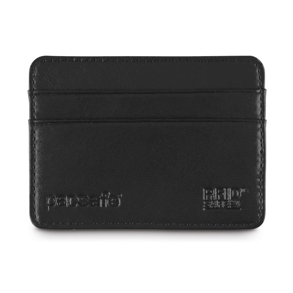 CLOSEOUTS . Ensure the safety of your personal information by keeping your credit cards in Pacsafeand#39;s RFID Executive 25 RFID-Blocking credit card holder, which protects your digital data from identity thieves with a special RFID-blocking material. Available Colors: BLACK.