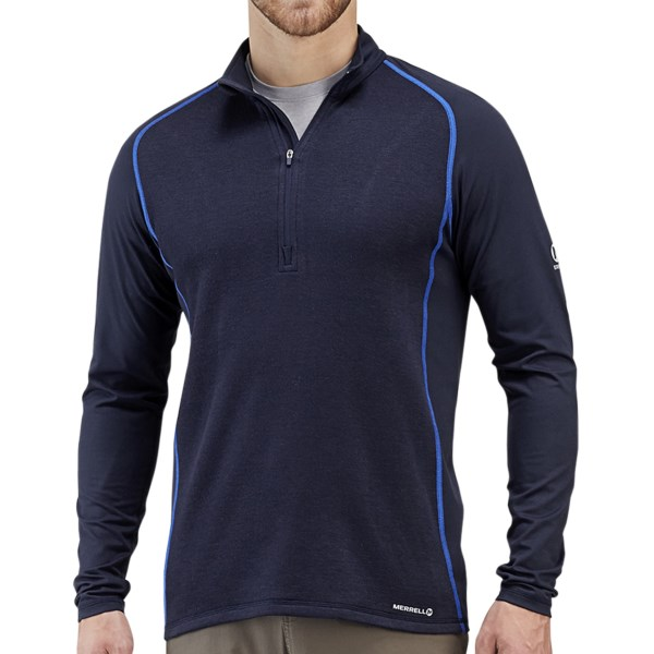 Merrell Alpino Pullover - Wool Blend, Zip Neck, Long Sleeve (For Men)