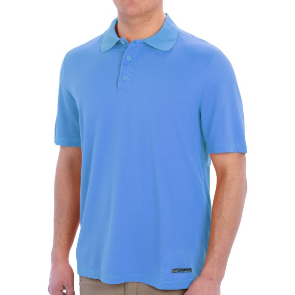 CLOSEOUTS . Stay cool when the day starts warming with Terramarand#39;s Microcool fishing polo shirt. Embedded nano crystals deliver yarn-based cooling technology, and an antimicrobial finish keeps you smelling fresh. Available Colors: MT. CARMEL, PARADISE GREEN, PROVENCE BLUE, SUN ORANGE. Sizes: S, M, L, XL, 2XL, 3XL.