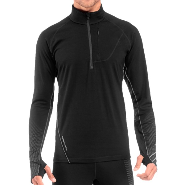 Icebreaker Drive Shirt - Merino Wool, Zip Neck, Long Sleeve (For Men)