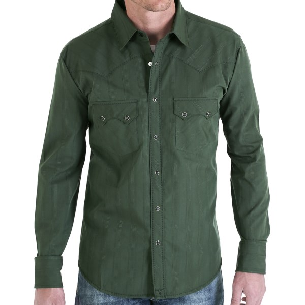Wrangler 20X Stripe Shirt - Snap Front, Long Sleeve (For Men)