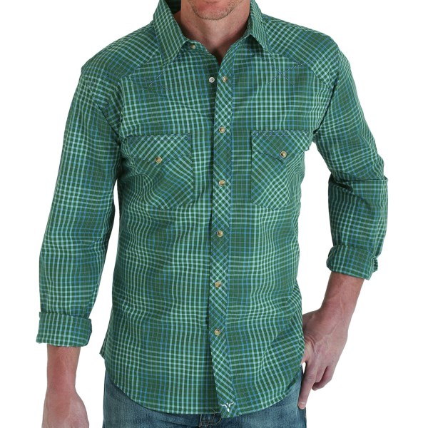 Wrangler 20x Plaid Shirt - Snap Front, Long Sleeve (for Men)
