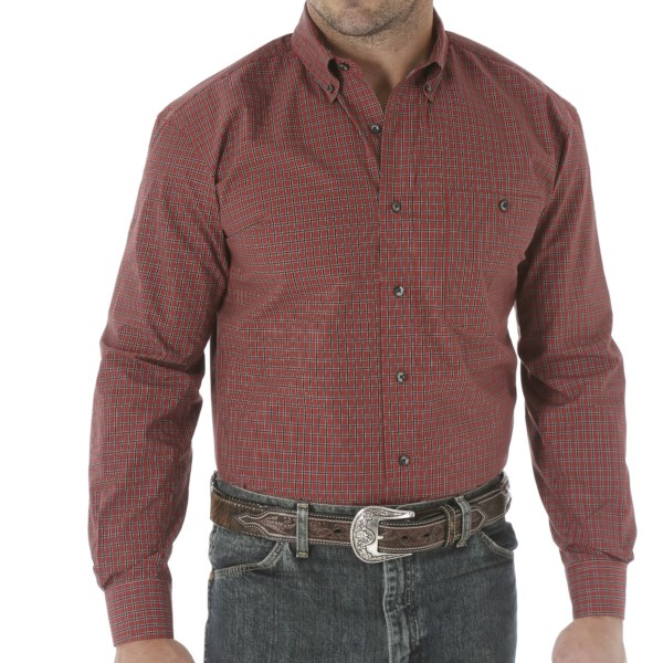 Wrangler Trevor Brazile Plaid Shirt - Button Front, Long Sleeve (For Men)