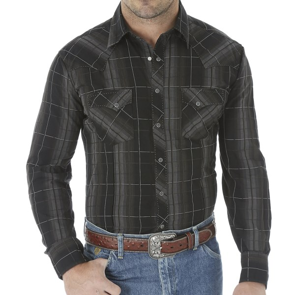 Wrangler Fashion Plaid Shirt - Snap Front, Long Sleeve (For Men)